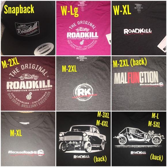Roadkill T-shirt + hats. L c61d419c9915